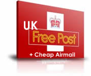 Free UK delivery and cheap International